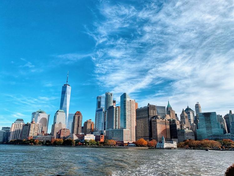 New York City Manhattan Skyline Harbor